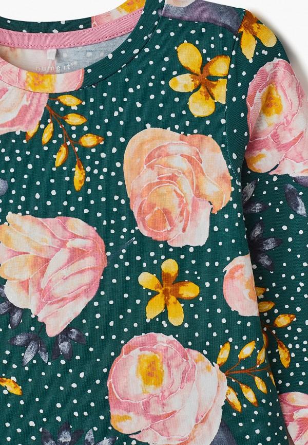 Фото 3 - Платье Name It зеленого цвета