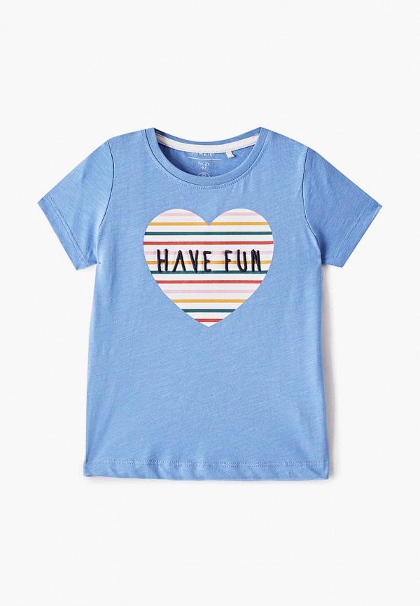 футболка с коротким рукавом name it для девочки, голубая
