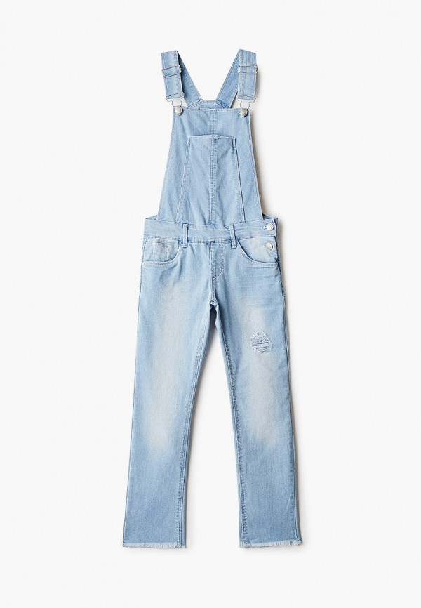 джинсовые комбинезон name it для девочки, голубой