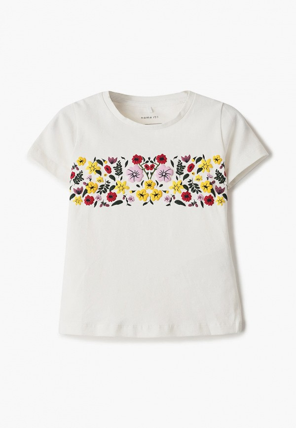 футболка с коротким рукавом name it для девочки, белая
