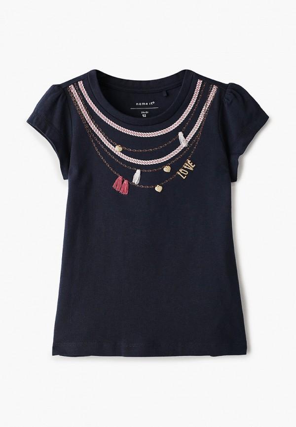 футболка с коротким рукавом name it для девочки, синяя