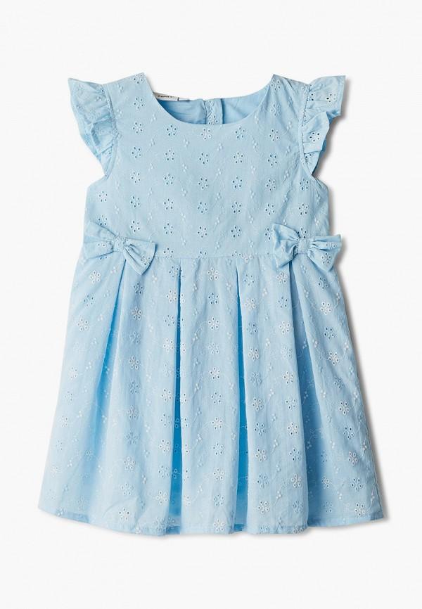 повседневные платье name it для девочки, голубое