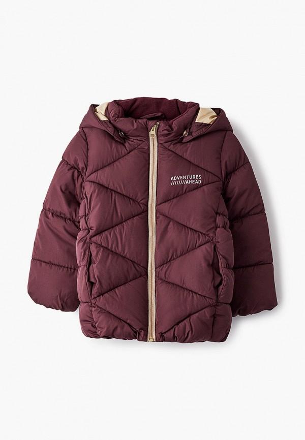 утепленные куртка name it для девочки, бордовая