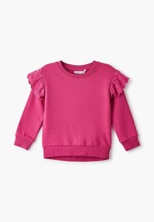 свитшот name it для девочки, розовый