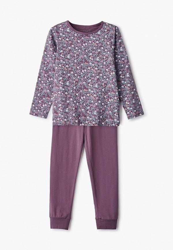 пижама name it для девочки, фиолетовая