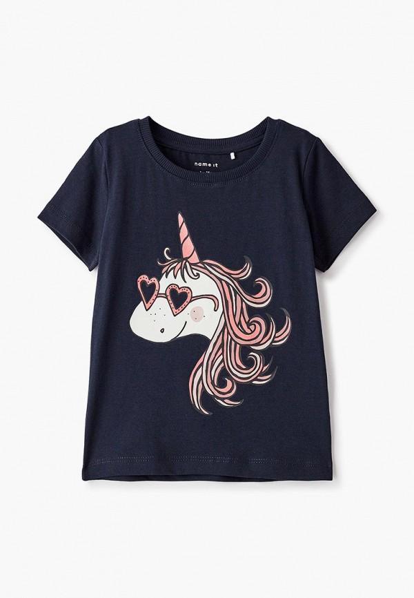 футболка с коротким рукавом name it для девочки, черная