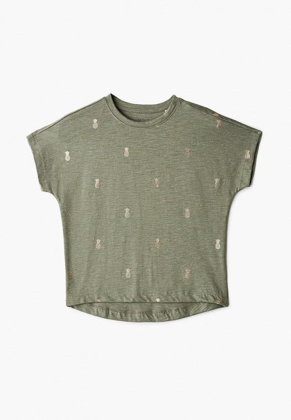 футболка с коротким рукавом name it для девочки, хаки