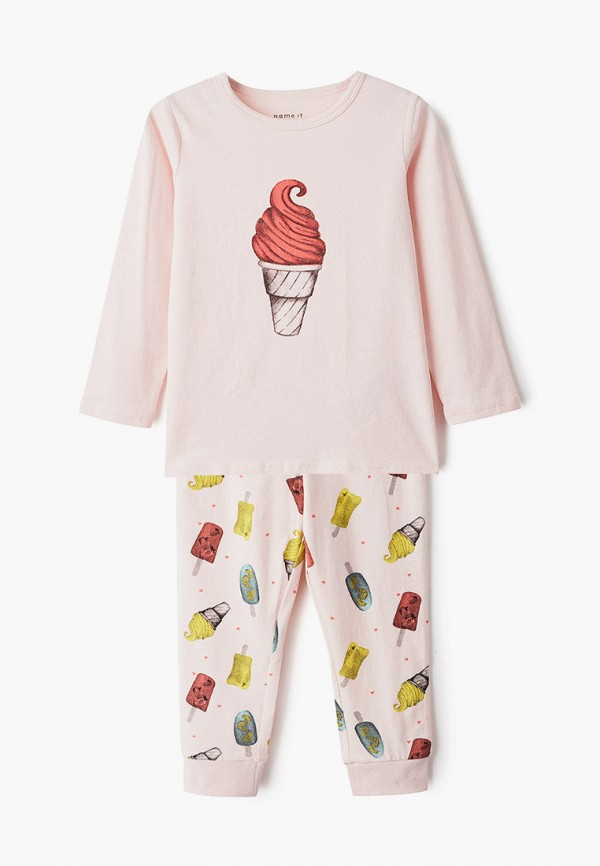 пижама name it для девочки, розовая
