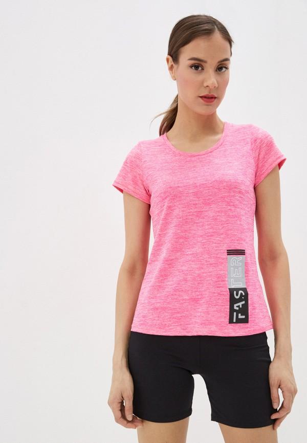 женская футболка nativos, розовая