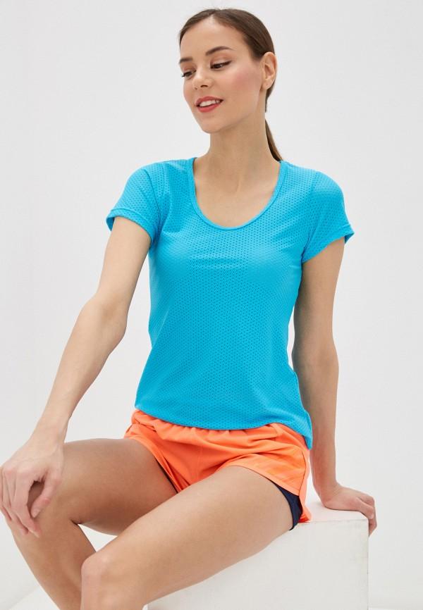 женская спортивные футболка nativos, голубая