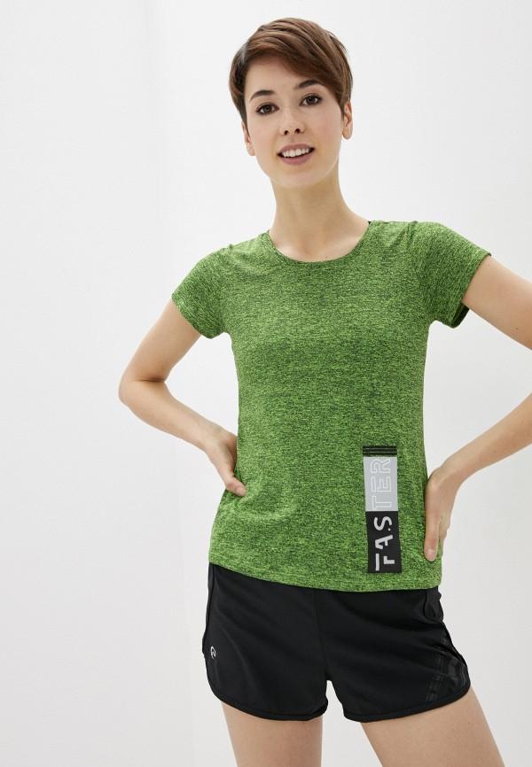 женская спортивные футболка nativos, зеленая