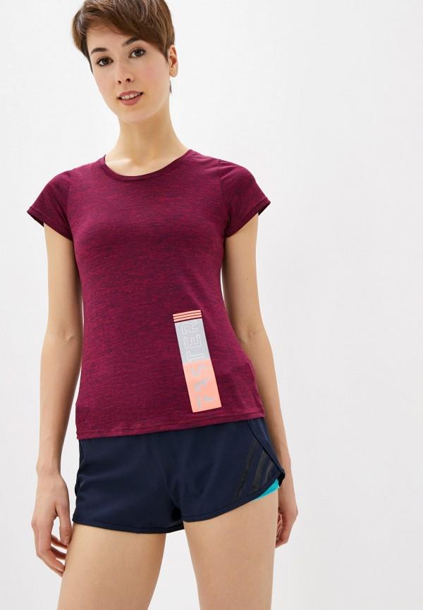 женская спортивные футболка nativos, бордовая