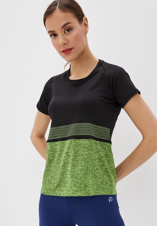 женская спортивные футболка nativos, разноцветная