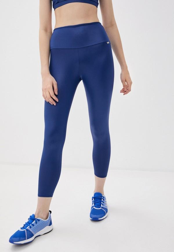 женские спортивные леггинсы nativos, синие