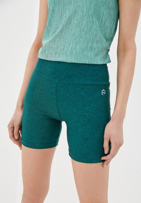 женские спортивные шорты nativos, зеленые