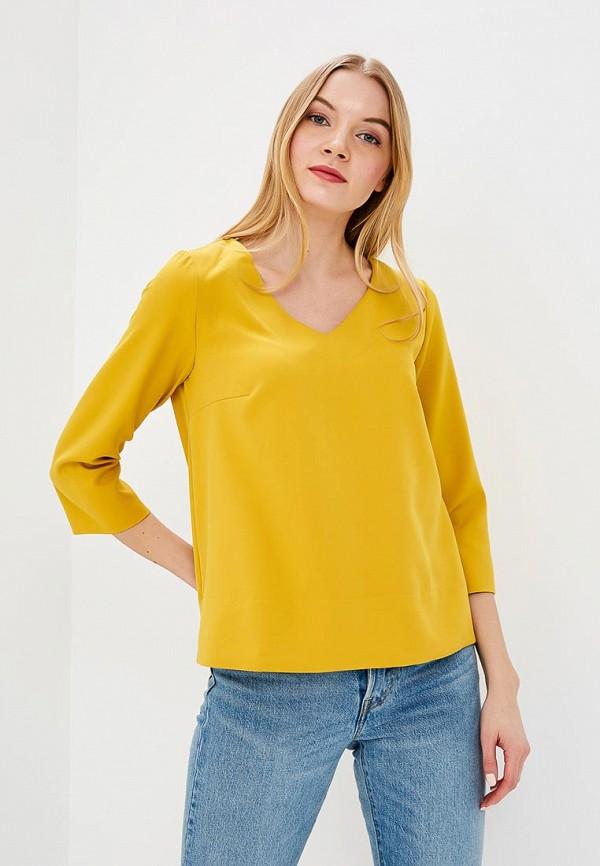 Купить Блуза Naoko, na029ewajaq9, желтый, Весна-лето 2018