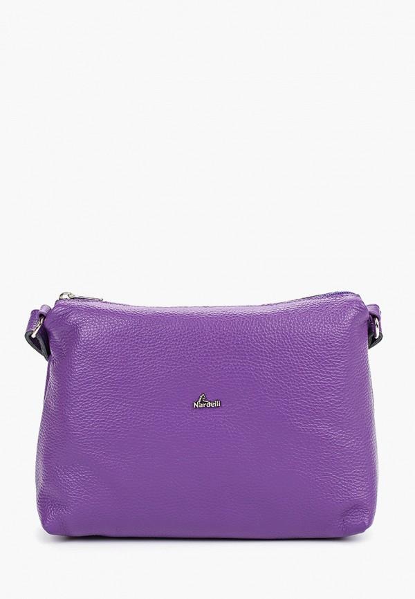 женская сумка nardelli, фиолетовая
