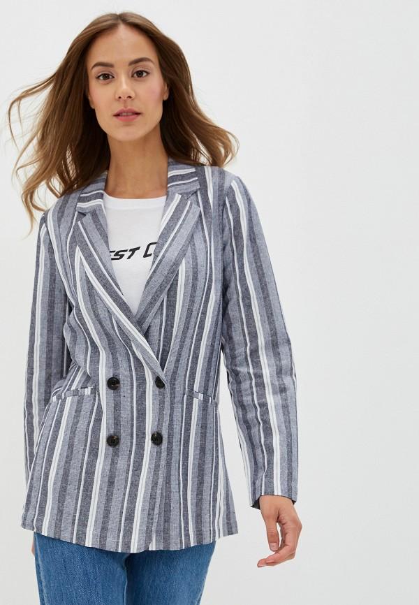 женский пиджак na-kd, серый