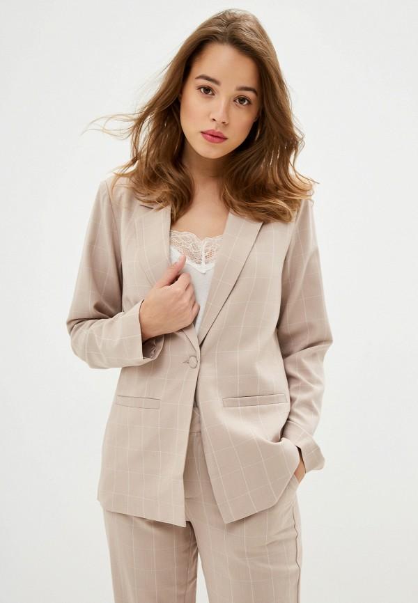 Фото - Женский пиджак NA-KD бежевого цвета