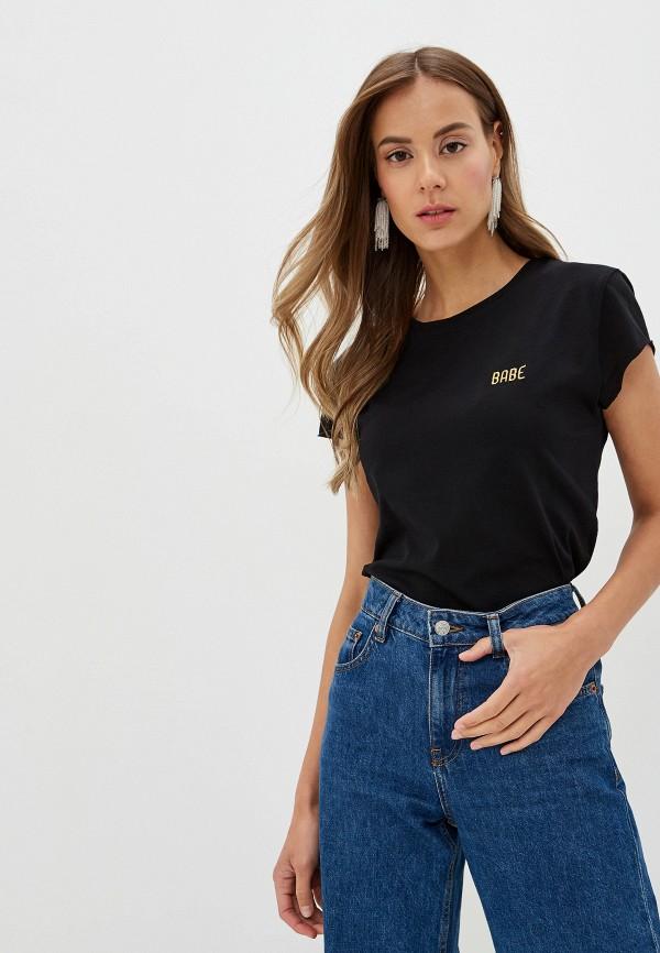 женская футболка na-kd, черная