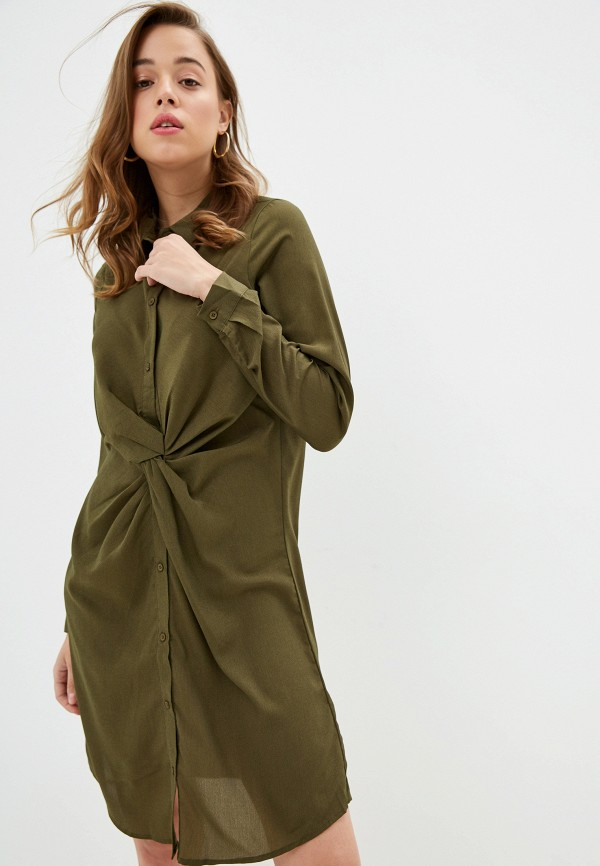 женское платье na-kd, хаки