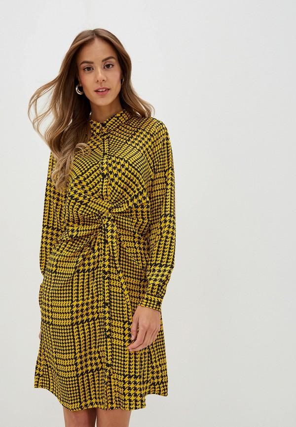 женское платье na-kd, желтое