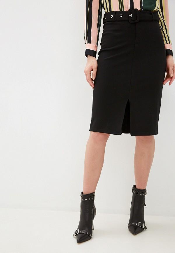 женская прямые юбка na-kd, черная