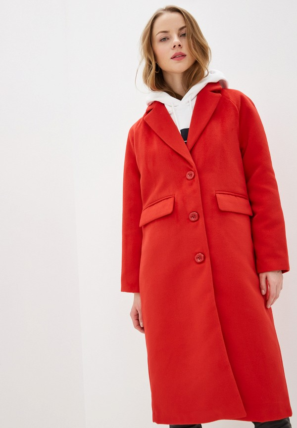 женское пальто na-kd, красное