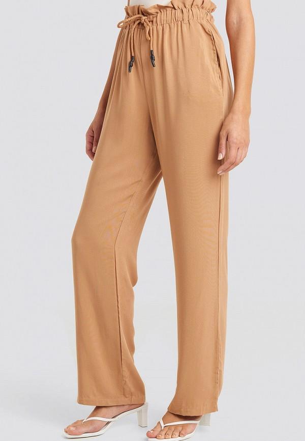 женские повседневные брюки na-kd, бежевые