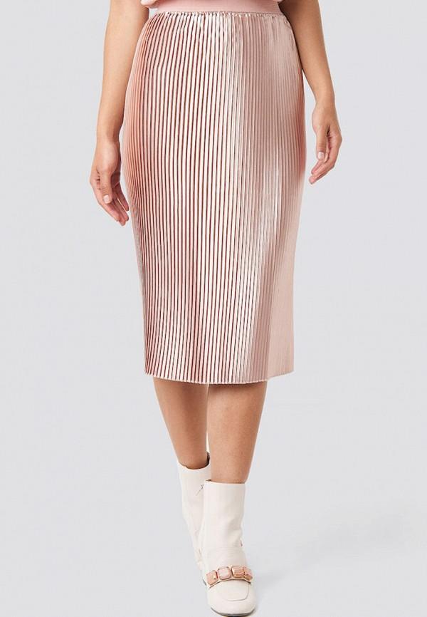 женская юбка na-kd, розовая