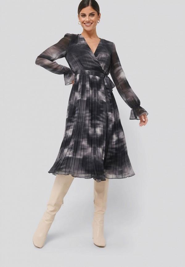 женское повседневные платье na-kd, серое