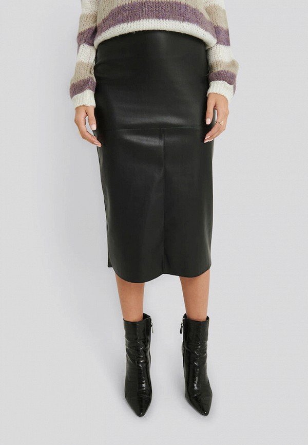 женская юбка na-kd, черная