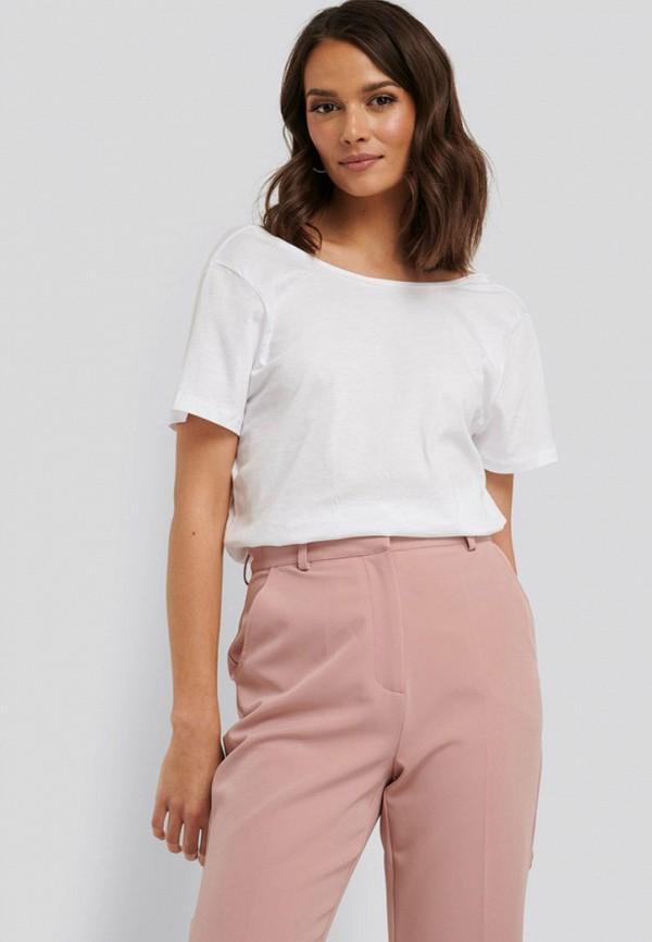 женская футболка na-kd, белая