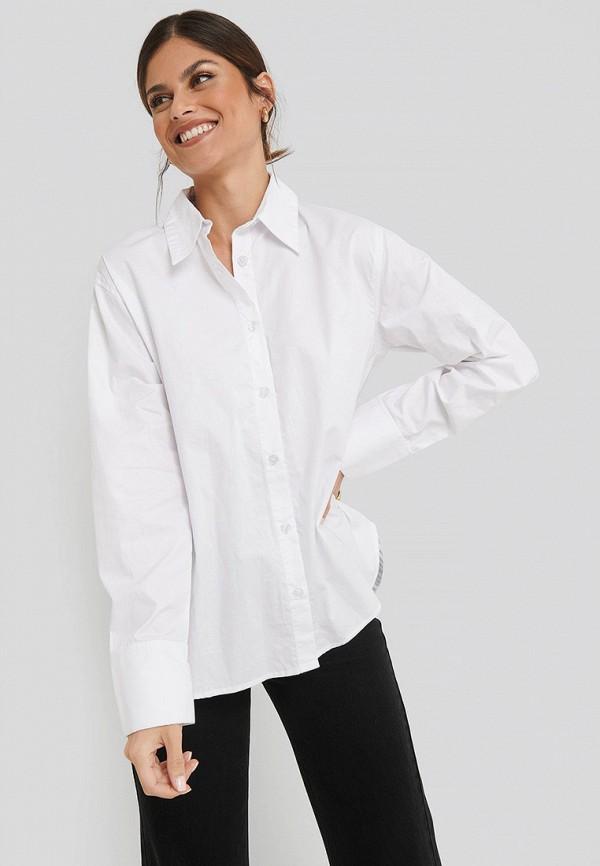 женская рубашка с длинным рукавом na-kd, белая