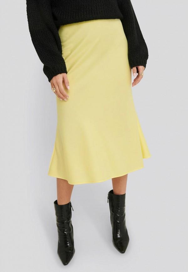 женская юбка na-kd, желтая