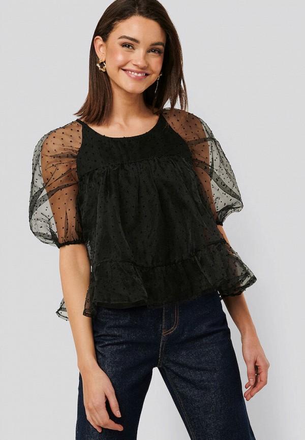 женская блузка na-kd, черная