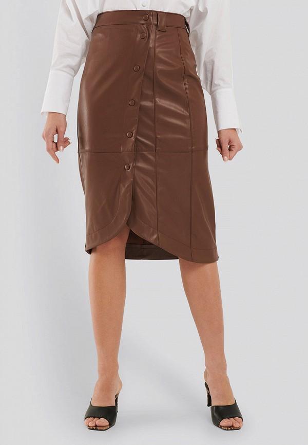 женская юбка na-kd, коричневая