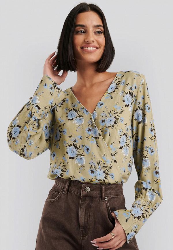 женская блузка na-kd, желтая
