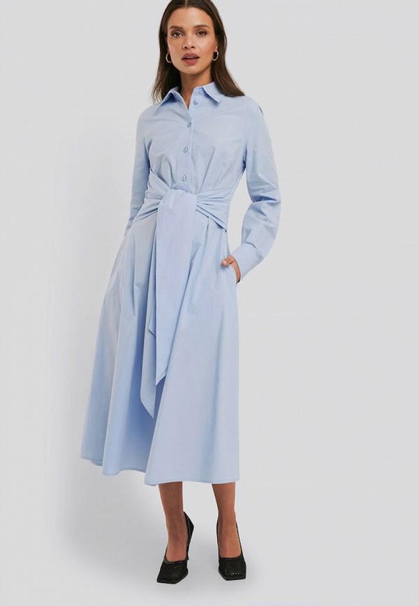 женское платье na-kd, голубое