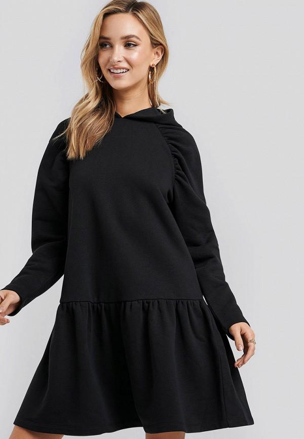 женское повседневные платье na-kd, черное