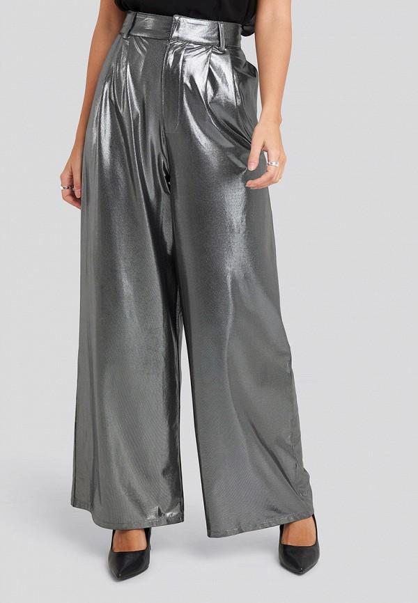 женские повседневные брюки na-kd, серебряные
