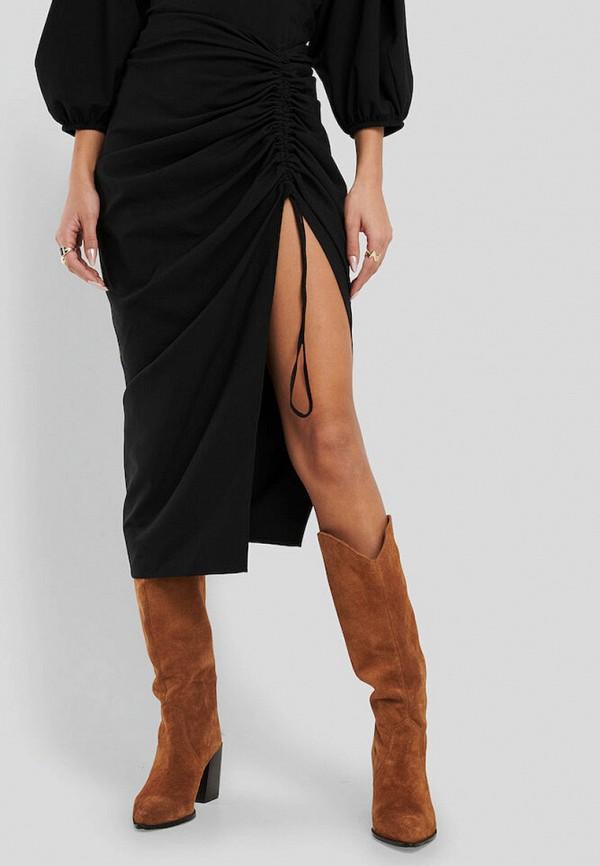 женская зауженные юбка na-kd, черная