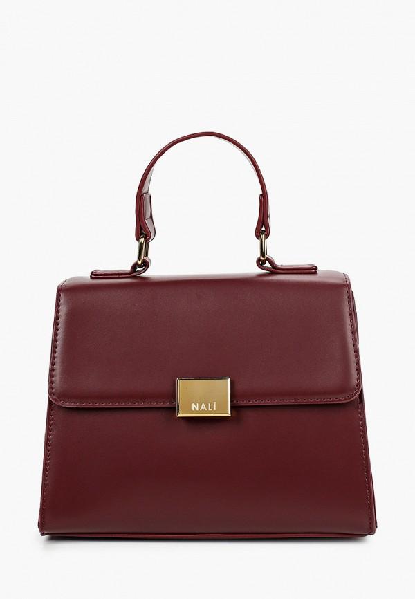 женская сумка nali, бордовая