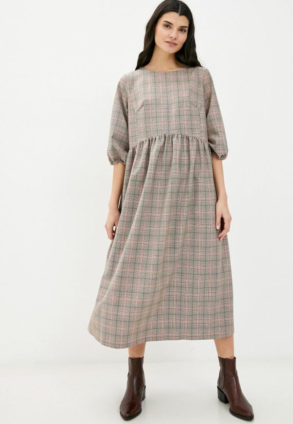 женское повседневные платье nataliy beate, коричневое