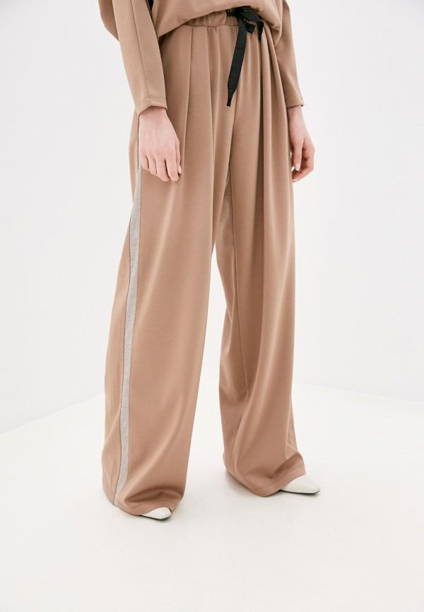 женские брюки клеш nataliy beate, бежевые