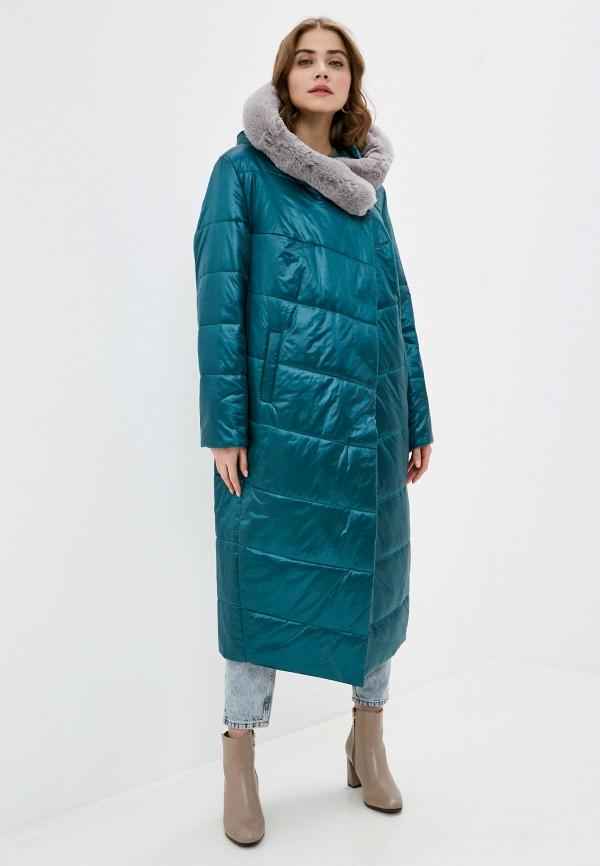 женская куртка nataliy beate, бирюзовая