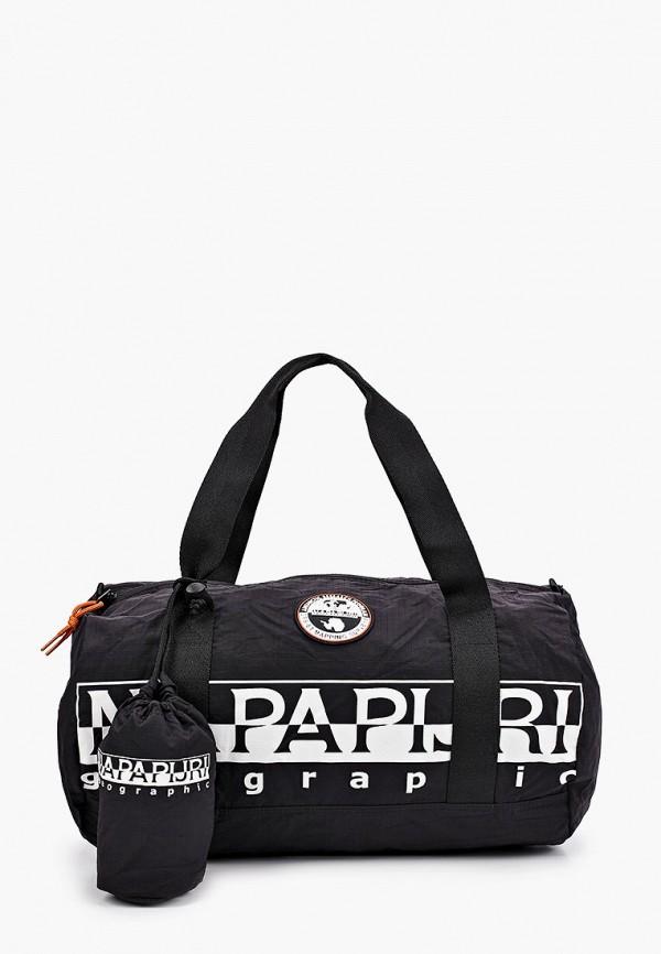 мужская спортивные сумка napapijri, черная