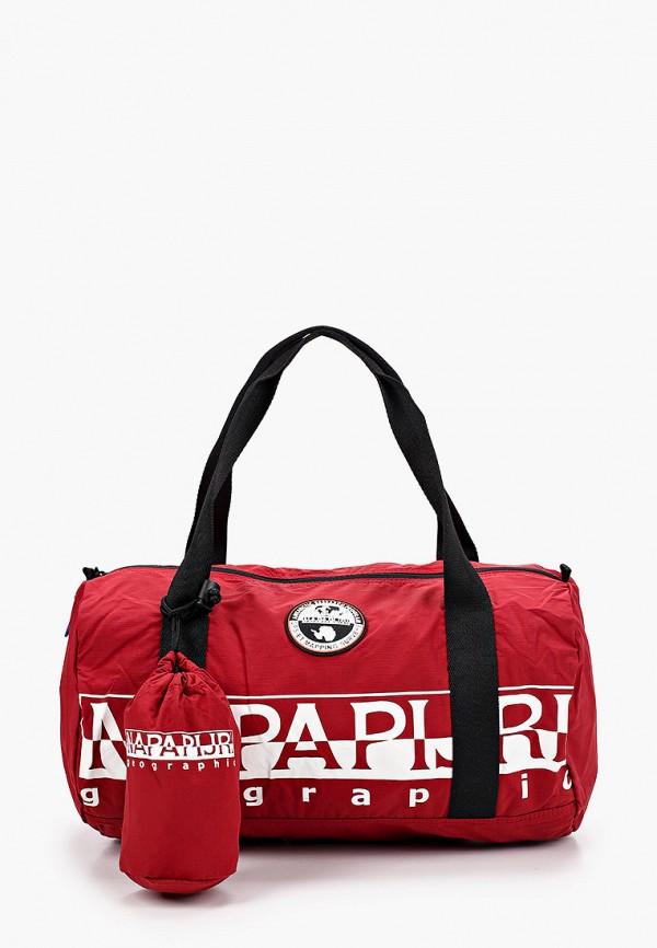 мужская спортивные сумка napapijri, красная
