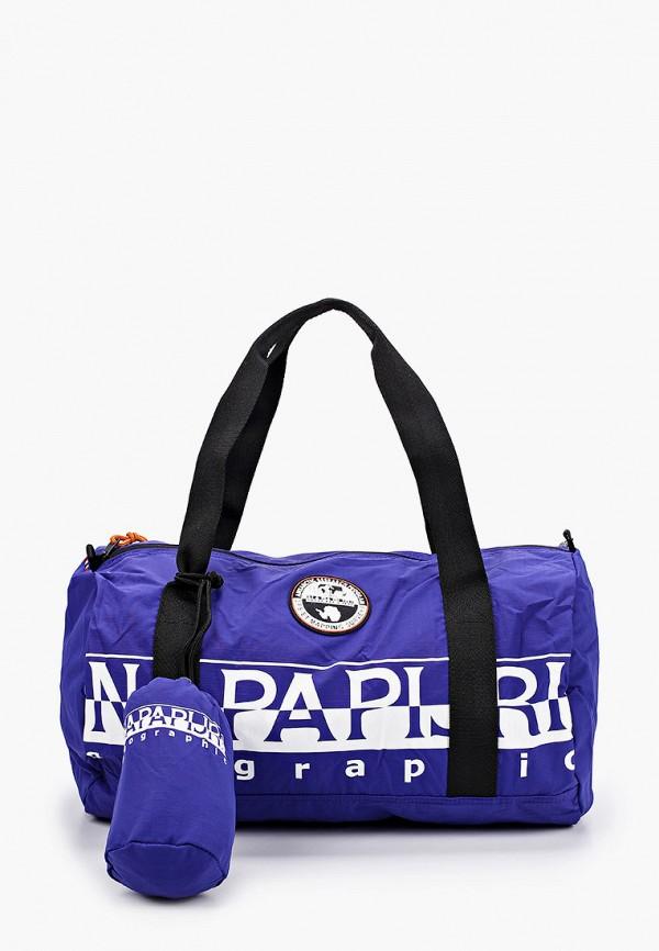 мужская спортивные сумка napapijri, синяя