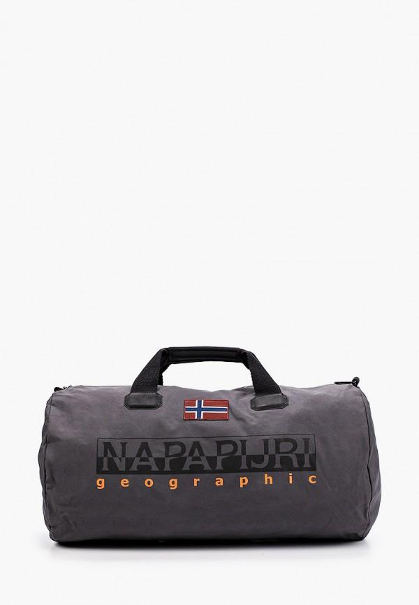 мужская спортивные сумка napapijri, серая